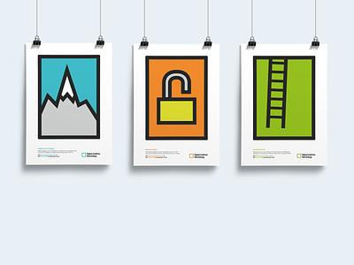 Posters design vector illustration flat branding poster