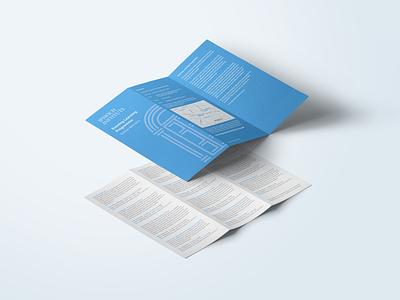 Ipswich Institute Leaflet One leaflet tri fold design