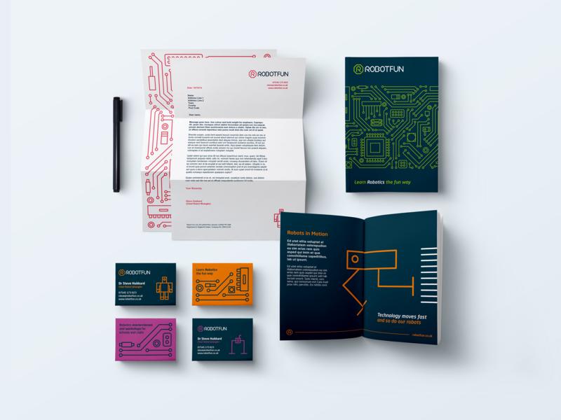 Robotfun Stationery letterhead design stationery design business cards pamphlet design typography branding