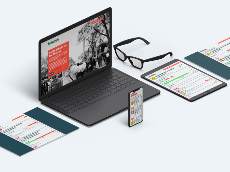 Swing Polls Website Screens website app polling design app design web design