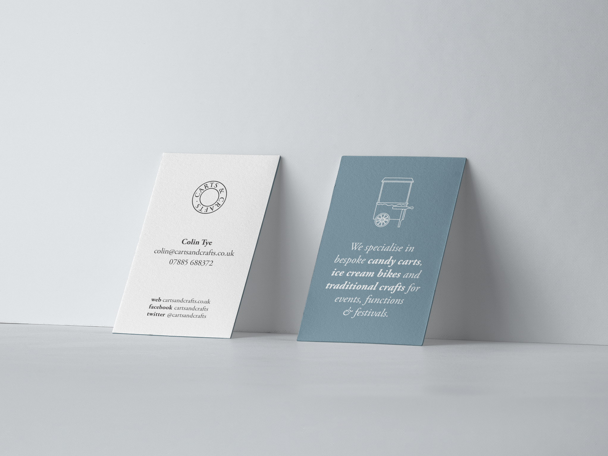 Carts   crafts business cards