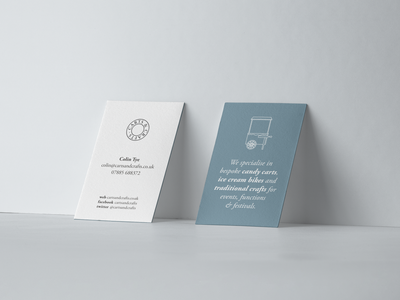 Carts   Crafts Business Cards business card stationery design branding