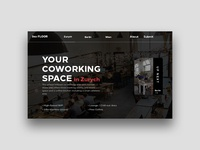 Coworking Space Landing Page Concept