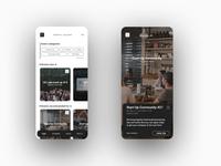 EVENTS SQUARE - minimalistic app design