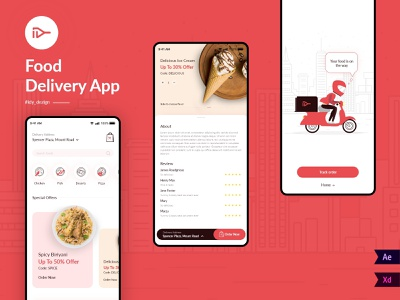 Food Delivery App corona ui design uxdesign ui  ux cart food app shopping app uiux food delivery application food delivery app iconography product design uidesign illustrator icons design branding 2020 ux ui