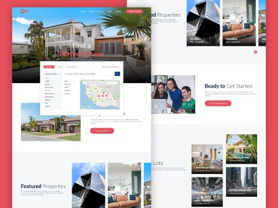 Real Estate Website real estate agency template design website builder website concept product design uidesign icons design 2020 searchbox dropdown ux ui branding design realestate website design website