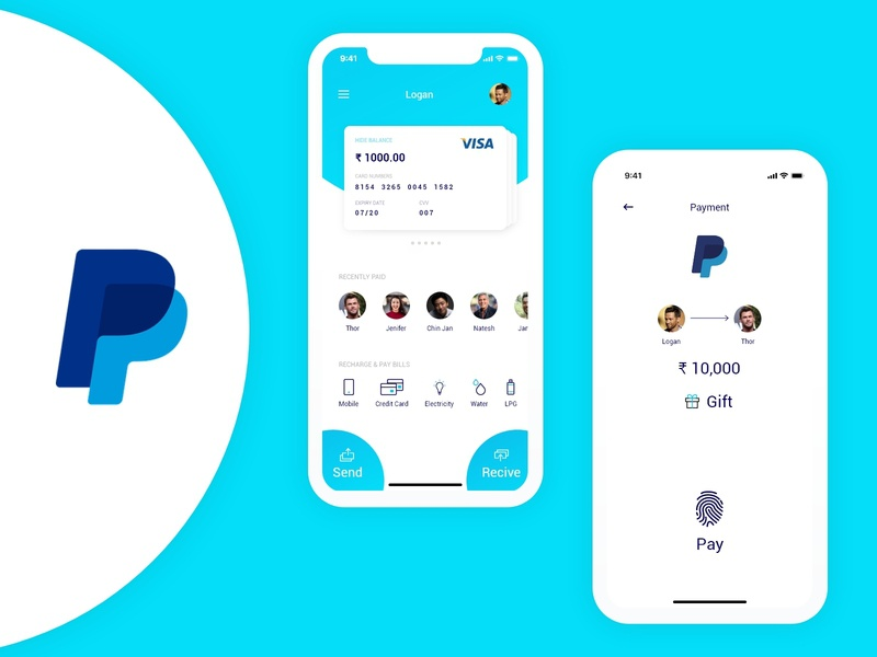 Pay Pal Redesign ux  ui payments bank ui bankingapp payment method paypal payment app iconography web product design uidesign branding 2020 design icons ux ui