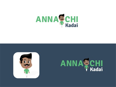Annachi Kadai Logo icon design vector illustration illustrations characterdesign logotype logodesign illustration 2020 iconography product design uidesign icons illustrator design branding logo