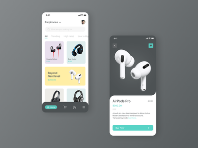 Shopping App menubar navigation bar cart uiux design airpods ios apple shopping shopping app branding mobile design mobileapp app 2020 productdesigner uiuxdesign design ux ui