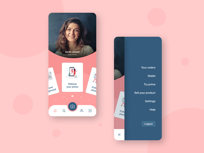 Beautify app uiuxdesigner navigation menu menu bar product design interactiondesign color navigaion menu beauty 2020 ui design camera camera app beauty app uidesign ux ui