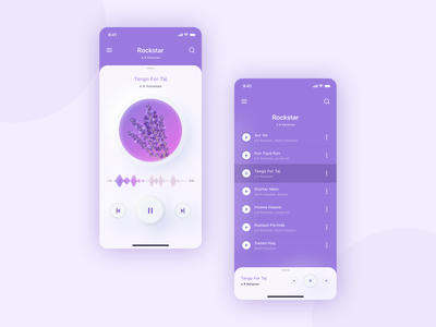 Music Player Soft Ui dashboard uiux uidesign product design software design mobile app mobile design mobile ui icons color music music player music app app softui 2020 branding ux ui