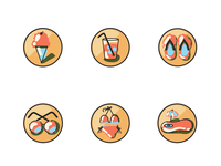 summer themed icons