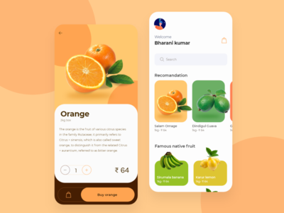 Native food app motion mobile card card art ui branding caricature animation illustration mobile application mobile app design ecommerce app ecommerce mobile ui fruit food mobile mobile app