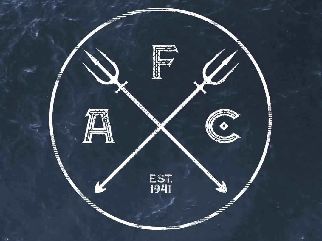 Atlantean Fight Club icon logo design illustration