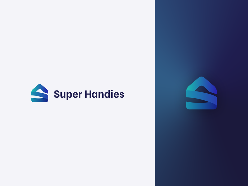 Super Handies logo logotype home branding logo
