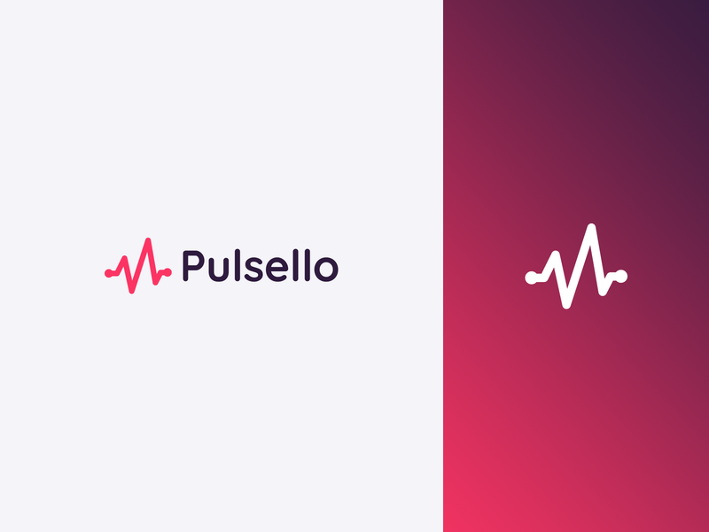 Pulsello - Website health website technology branding logo logotype
