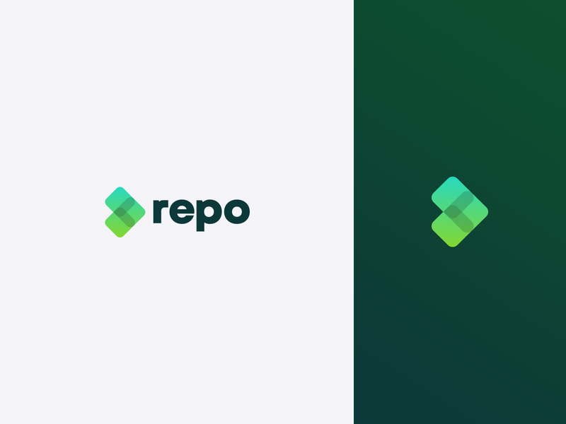 Repo - your accounting tool design vector icon logotype branding logo