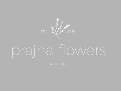 Flower Design Studio Logo sans serif logo typography logo minimal logo floral design floral logo flower logo flower studio flower shop
