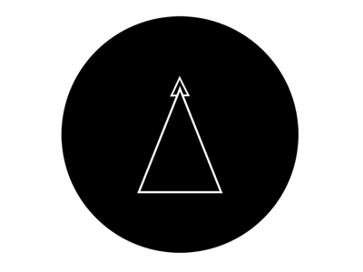 Minimal Logo for Tria black and white branding logo design minimal logo