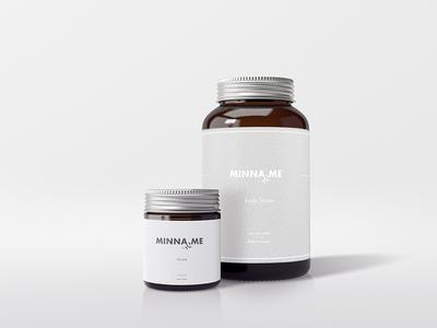 Minimal Branding Design typography healthy herbal leaf minimal branding product