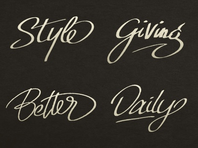 Daily Lettering #1 script hand lettering type calligraphy design typography lettering