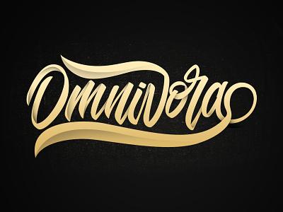 Omnivora logo branding typeface graffiti brush calligraphy logotype handwritten handwriting type script hand lettering calligraphy typography lettering