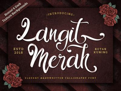 Langit Merah Font vintage retro branding logotype hand lettering handwritten handwriting lettering type typography calligraphy script typeface font
