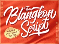 Introducing The Blangkon Script Font