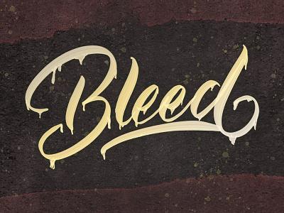 Bleed logo handwriting branding illustration graffiti brush calligraphy design typeface font logotype hand lettering type script calligraphy typography lettering
