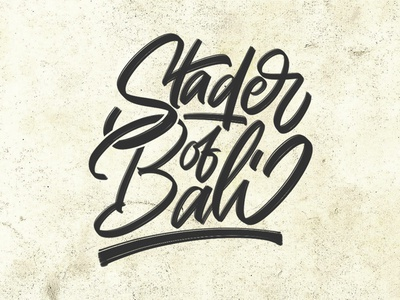 Stader of Bali font graffiti illustration typeface design logo brush calligraphy branding logotype hand lettering type script calligraphy typography lettering