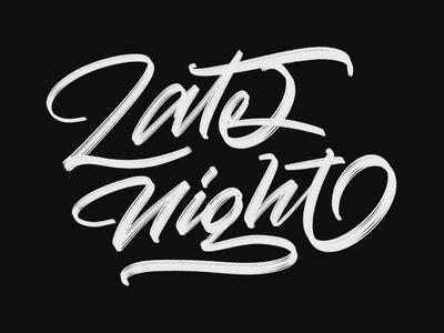 Late Night font vector graffiti branding logo illustration typeface design handwriting type brush calligraphy logotype hand lettering script calligraphy typography lettering