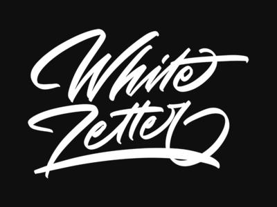 White Letter font illustration logo graffiti brush calligraphy branding typeface design logotype hand lettering script calligraphy typography lettering