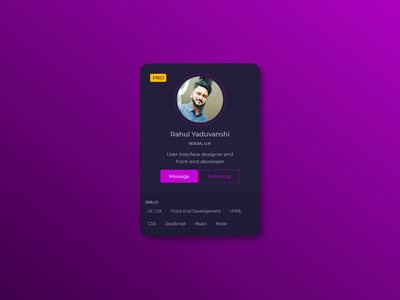 Profile Card Design
