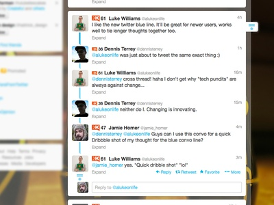Twitter's Conversation Blue Line