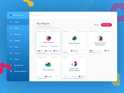 TaskBranch Dashboard   The Project Platform for Agencies dashboard web ux ui platform design web app saas