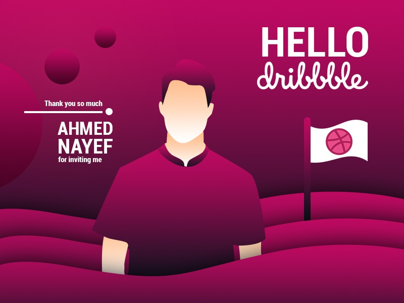 I'AM IN DRIBBBLE ZONE hello dribbble hello invitaion thanks dribbble gradient design first first shot illustraion