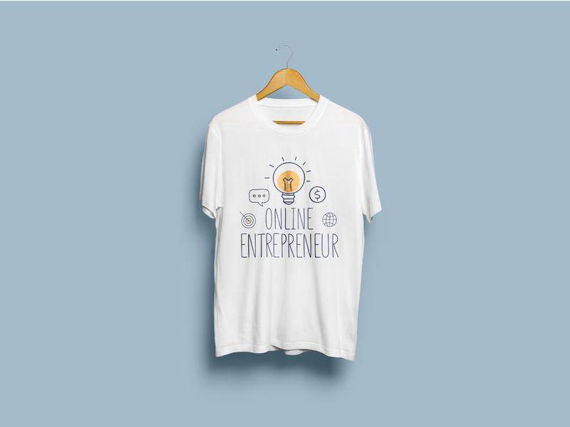 Online Entrepreneur T-Shirt entrepreneur online tshirt