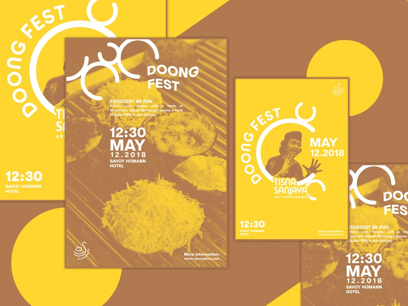 DoongFest Poster- Duotone Style yellow poster duotone