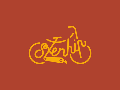Daily Logo Challenge Day 24 bike vector logo identity design dailylogochallengeday24 dailylogochallenge daily logo branding brand