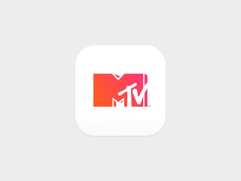 MTV product design app icon app video music mtv