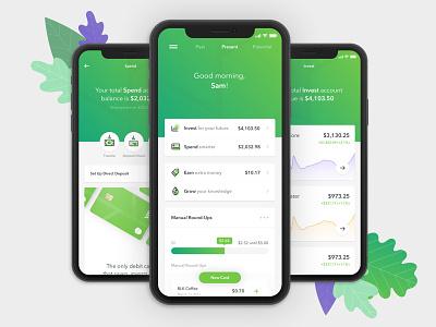 An All-New Acorns product design product ux ui mobile app acorns green app design app