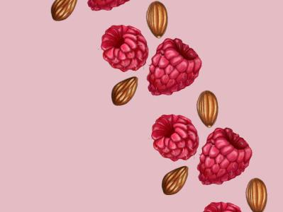 Raspberry Almond Pattern