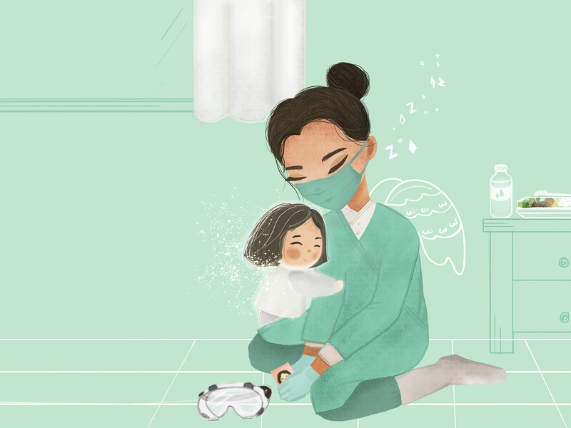 thank you hero covid19 medical logo kid art children book illustration digitalpainting childrenillustration illustration