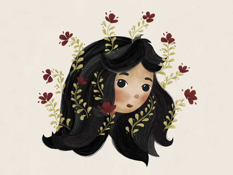 Flower Girl kid art children children book illustration photoshop girl character
