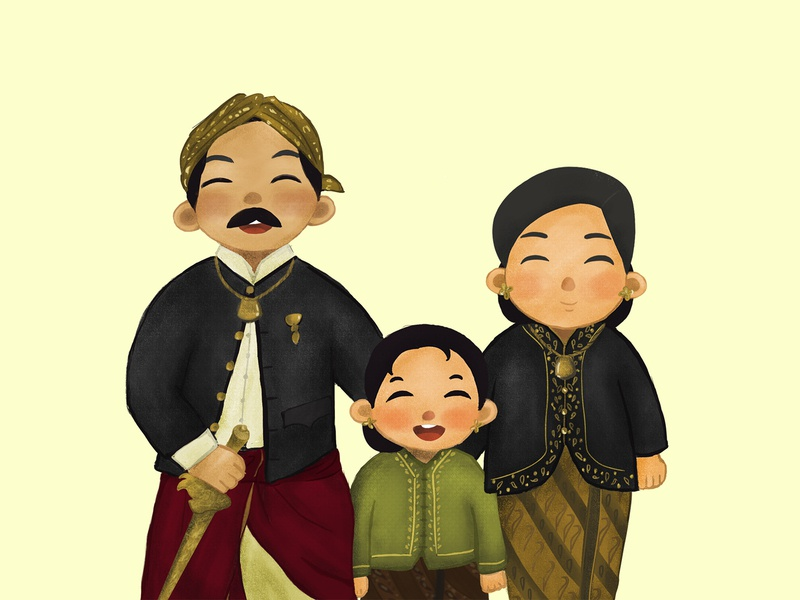 Dewi Sartika - National Hero of Indonesia kidlit character illustration art digitalart childrenillustration