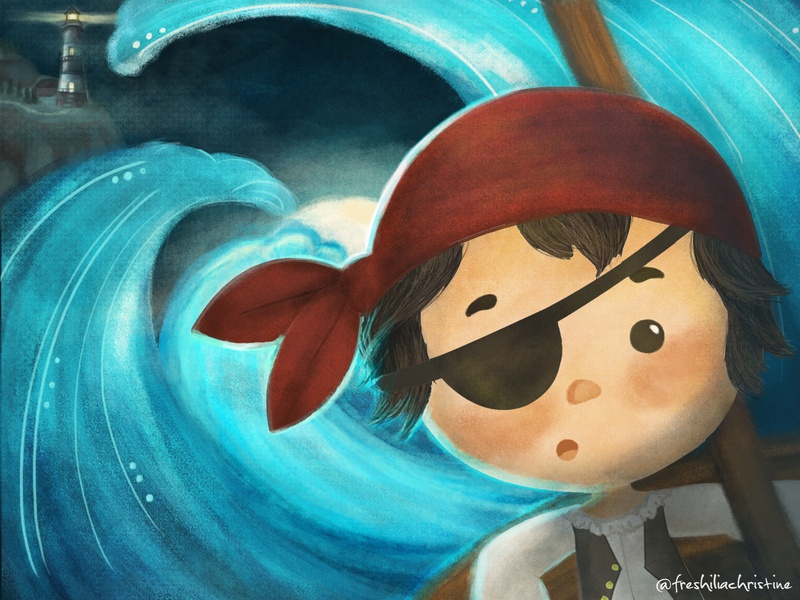 Little Pirates illustrzione children book illustration kidlit pirates wacom intuos childrenbook kids book kidlitart childrenillustration