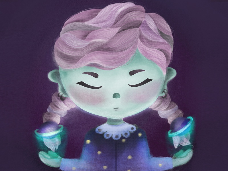 another galaxy kidlitart character design photoshop digitalpainting illustration character children book illustration girl character childrenillustration