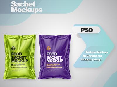 Sachets Mockups mock up logo package mockup design mockupdesign pack visualization mockup design 3d