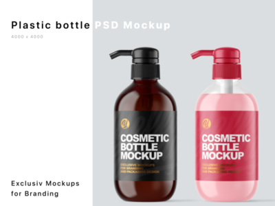 Plastic Bottles Mockups mock up logo package mockup design mockupdesign pack visualization mockup design 3d