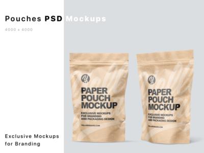 Kraft Paper Stand Up Pouches Mockups smartobject logo package mockup design mockupdesign pack visualization mockup design 3d